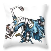 From Way Down In The Hole Throw Pillow by Kelly Jade King