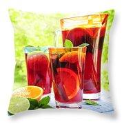 Fruit punch  Throw Pillow by Elena Elisseeva