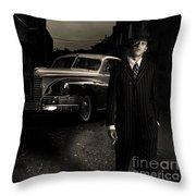 Gangster Throw Pillow by Diane Diederich