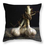 Garlic Throw Pillow by Bernard Jaubert