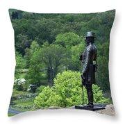 General Warren At Little Round Top Throw Pillow by John Greim