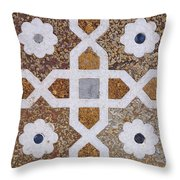 Geometric Designs On The Baby Taj Agra Throw Pillow by Robert Preston