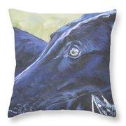 Greyhound Throw Pillow by Lee Ann Shepard