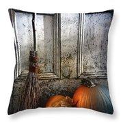 Halloween Night Throw Pillow by Sandra Cunningham