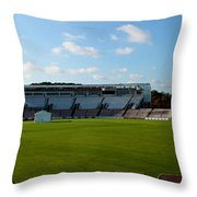 Hampshire County Cricket Ground Throw Pillow by Terri  Waters
