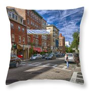 Hanover St. Throw Pillow by Joann Vitali