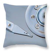 Hard Disc Throw Pillow by Michal Boubin
