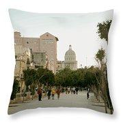 Havana's Prado Promenade Throw Pillow by Mountain Dreams