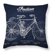 Indian motorcycle Throw Pillow by Aged Pixel
