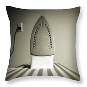 Iron Throw Pillow by Les Cunliffe