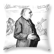 JEAN MARTIN CHARCOT Throw Pillow by Granger