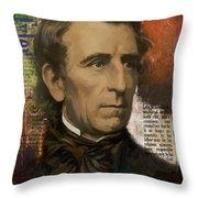 John Tyler Throw Pillow by Corporate Art Task Force