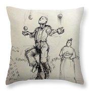 Juggler Throw Pillow by H James Hoff