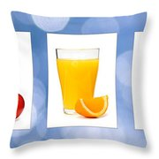 Juices Throw Pillow by Elena Elisseeva