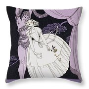 Karsavina Throw Pillow by Georges Barbier