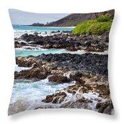 Keanae Lava Rock Throw Pillow by Jenna Szerlag