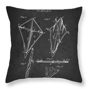 Kite Patent From 1892 Throw Pillow by Aged Pixel