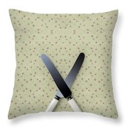 Knives Throw Pillow by Joana Kruse