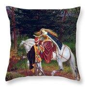 La Belle Dame Sans Merci Throw Pillow by Walter Crane