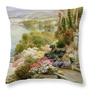 Lake Maggiore Throw Pillow by Ebenezer Wake-Cook