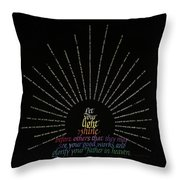 Light Shine Throw Pillow by Judy Dodds