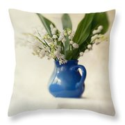 Lilly Of The Valley Throw Pillow by Jaroslaw Blaminsky