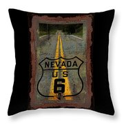 Lost Highway Throw Pillow by John Stephens