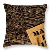 Made In Usa Throw Pillow by Olivier Le Queinec