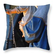 Madonna and Jesus Throw Pillow by Bob Christopher