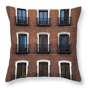 Madrid Throw Pillow by Frank Tschakert