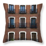 Madrid Throw Pillow by Frank Tschakert