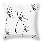 Make A Wish Throw Pillow by Marianna Mills