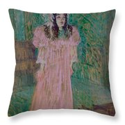 May Belfort Throw Pillow by Henri de Toulouse-lautrec