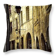 Medieval street in France Throw Pillow by Elena Elisseeva