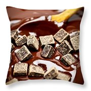 Melting Chocolate Throw Pillow by Elena Elisseeva