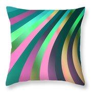 Metallic Swirls 2 Throw Pillow by Hakon Soreide
