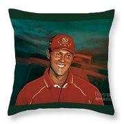 Michael Schumacher Throw Pillow by Paul Meijering