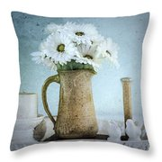 Moody Blue Throw Pillow by Betty LaRue