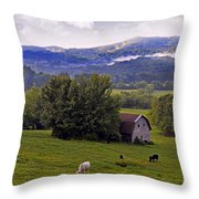 Morning Grazing Throw Pillow by Susan Leggett