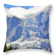 Mount Adams Throw Pillow by Roger Reeves  and Terrie Heslop