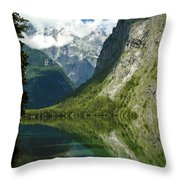 Mountainscape Throw Pillow by Frank Tschakert