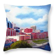 Nashville Skyline Throw Pillow by Janet King