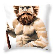 Neptune Throw Pillow by Penny Pesaturo