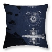 Nikola Tesla Patent From 1891 Throw Pillow by Aged Pixel