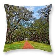 Oak Alley 3 Throw Pillow by Steve Harrington