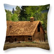 Old Barn Throw Pillow by Robert Bales