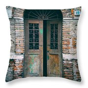 Old Italian Doorway Throw Pillow by Mountain Dreams