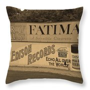 Old Time Baseball Field Throw Pillow by Frank Romeo