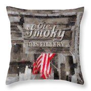 Ole Smoky Distillery Throw Pillow by Dan Sproul