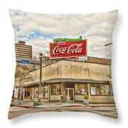 On The Corner Throw Pillow by Scott Pellegrin